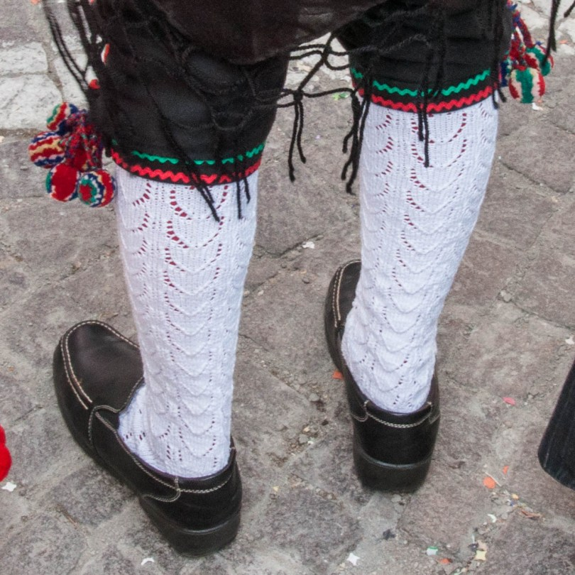 Traditional socks with pompons - Bagolino, Lombardy, Italy - www.rossiwrites.com
