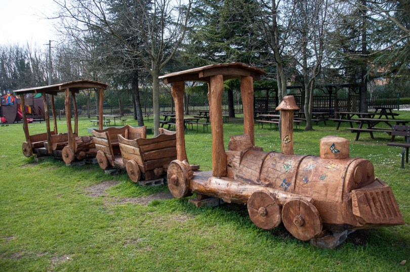 A playground train at Oasi Rossi - Santorso, Veneto, Italy - www.rossiwrites.com