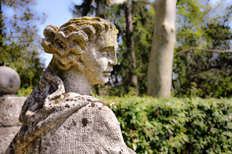 Statue in the park of Villa da Schio, Costozza, Veneto, Italy - www.rossiwrites.com