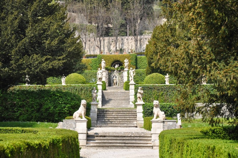 The atmospheric steps of Villa da Schio, Costozza, Veneto, Italy - www.rossiwrites.com
