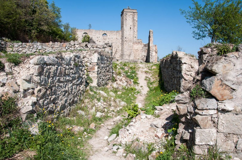 The ruins of the former Olivetani monastery on Monte Venda - Euganean Hills, Veneto, Italy - www.rossiwrites.com