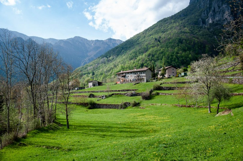 The terraced land with houses - Laghi, Veneto, Italy - www.rossiwrites.com