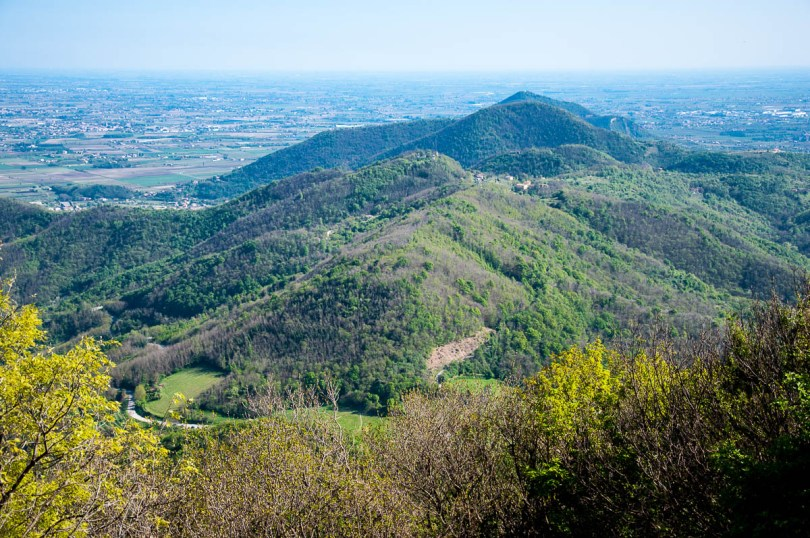 The view from Monte Venda - Euganean Hills, Veneto, Italy - www.rossiwrites.com