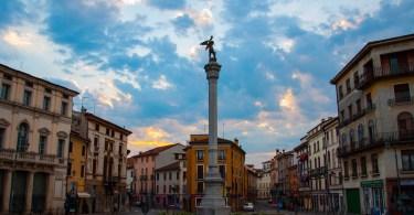 Piazza XX Settembre Seen from Ponte dei Angeli - Vicenza, Veneto, Italy - www.rossiwrites.com