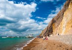The colourful sands of Alum Bay, Isle of Wight, England - www.rossiwrites.com