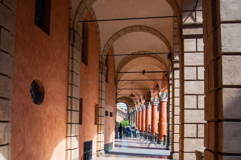 An arcade - Palazzo d'Accursio, Bologna, Emilia-Romagna, Italy - www.rossiwrites.com