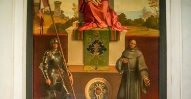 Castelfranco Madonna - The Madonna and Child between St. Francis and St. Nicasius - by Giorgione - Castelfranco Veneto, Italy - www.rossiwrites.com
