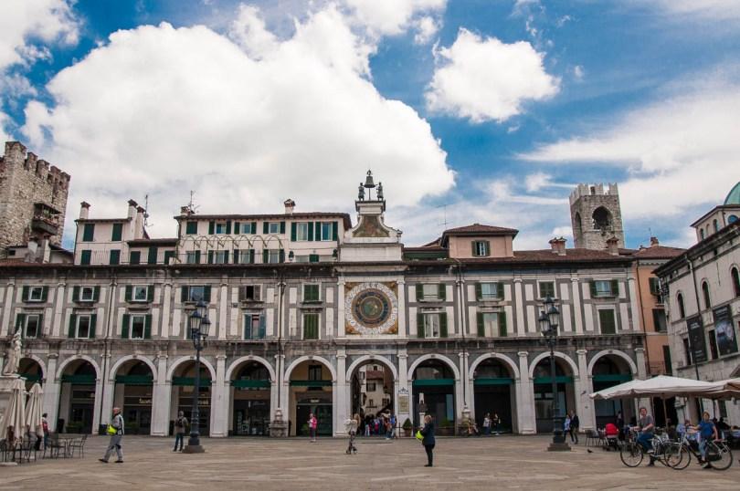 Piazza della Loggia with the astronomical clock - Brescia, Lombardy, Italy - www.rossiwrites.com