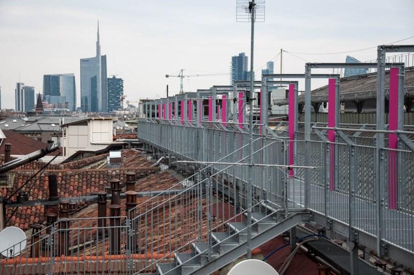 Rooftops, skyscrapers and walkway - Galleria Vittorio Emanuele II, Milan, Italy - www.rossiwrites.com
