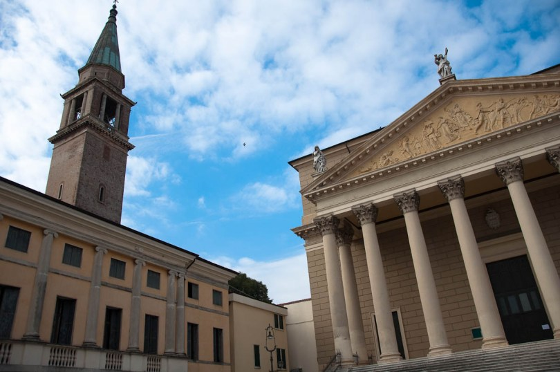 The Neoclassical Duomo with a bell tower - Cologna Veneta, Italy - www.rossiwrites.com