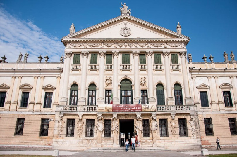 The facade of Villa Pisani - Stra, Veneto, Italy - www.rossiwrites.com
