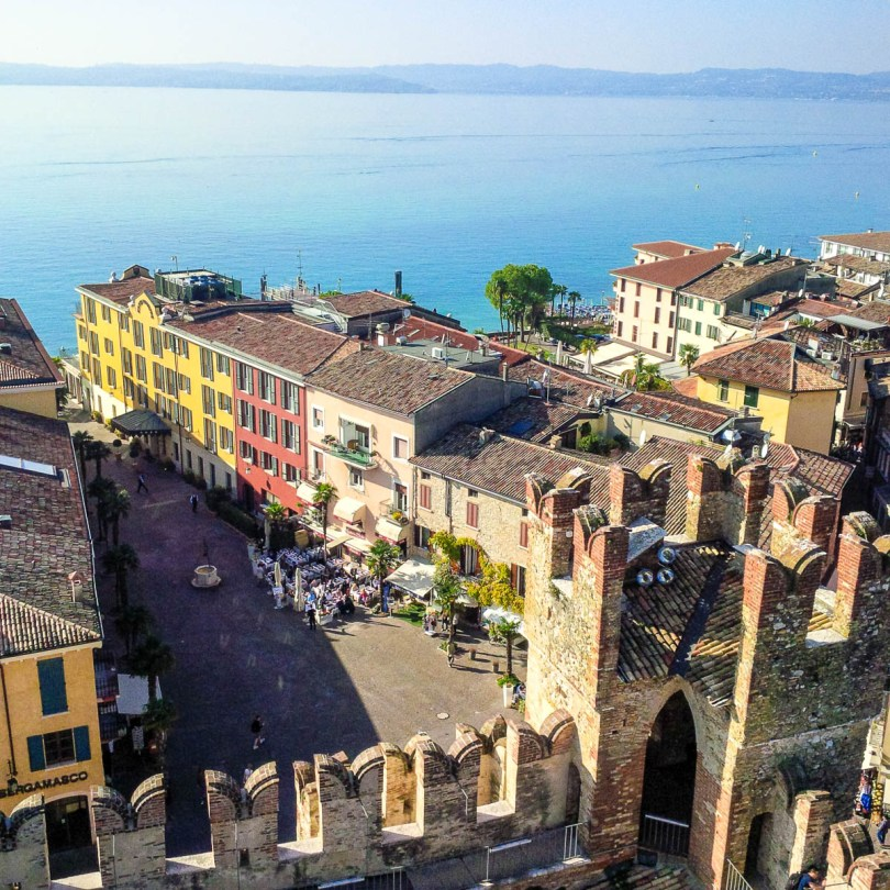 The view from the Scaliger Castle - Sirmione, Garda Lake, Italy - rossiwrites.com