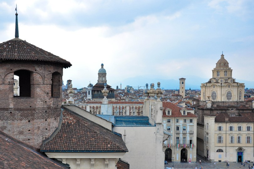 Turin's skyline seen from the panoramic tower of Palazzo Madama - Turin, Italy - www.rossiwrites.com