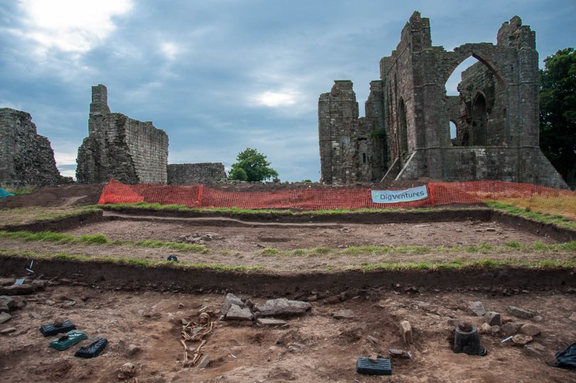 An archaological dig at Lindisfarne Abbey - Holy Island of Lindisfarne, Northumberland, England - www.rossiwrites.com