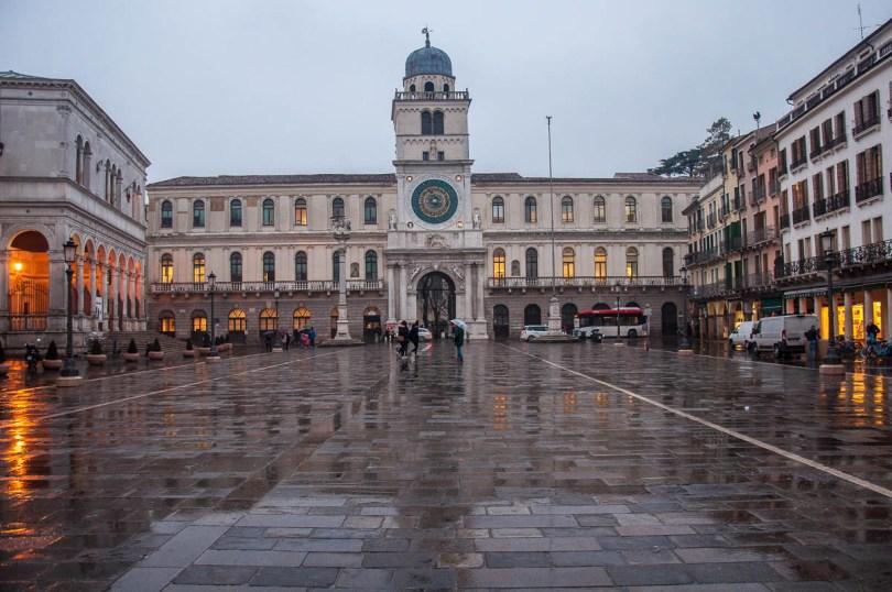 Piazza dei Signori in Padua on a rainy evening - Padua, Veneto, Italy - www.rossiwrites.com