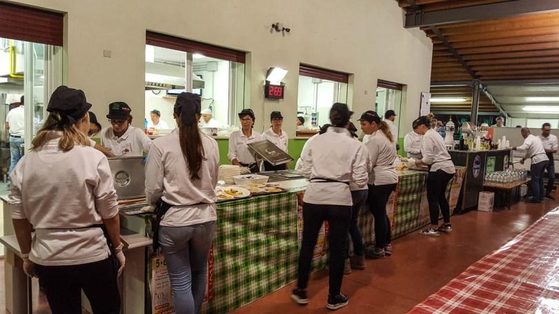 Preparing the food - Lumignano Truffle Festival - Veneto, Italy - www.rossiwrites.com