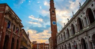 Sunrise at Piazza dei Signori - Vicenza, Veneto, Italy - www.rossiwrites.com