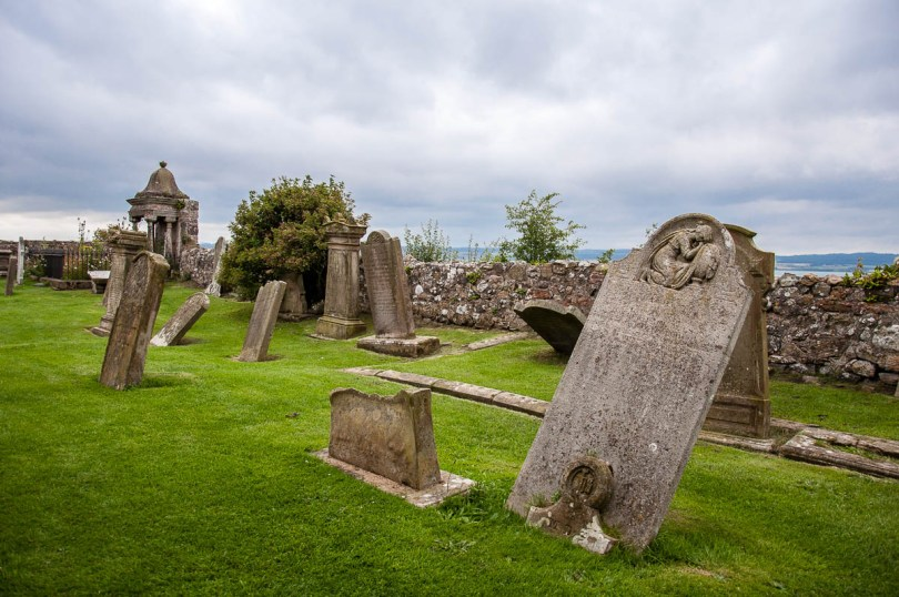 The cemetery surrounding the historic church of Saint Mary - Holy Island of Lindisfarne, Northumberland, England - www.rossiwrites.com