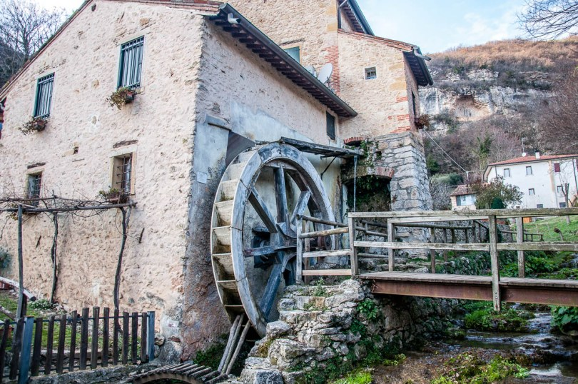 An old watermill - The Valley of the Mills - Mossano, Province of Vicenza, Veneto, Italy - www.rossiwrites.com