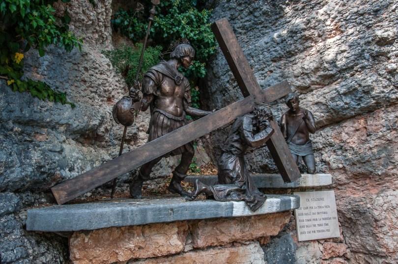 The ninth Station of the Cross - Sanctuary of Santa Maria della Corona, Spiazzi, Veneto, Italy - www.rossiwrites.com