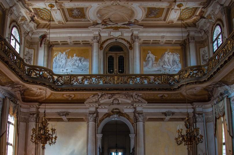 Closeup of the ballroom - Villa Pisani, Stra, Veneto, Italy - www.rossiwrites.com