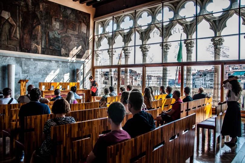 Inside Aula Baratto - Ca Foscari University of Venice - Venice, Veneto, Italy - www.rossiwrites.com