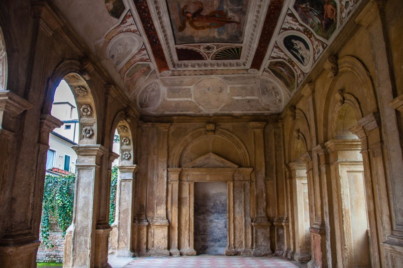 Inside view of the Cornaro Loggia - Padua, Veneto, Italy - www.rossiwrites.com