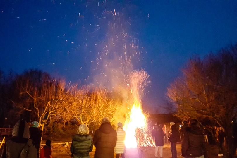 The Bonfire - Capodanno Veneto - Fattoria Il Rosmarino, Marcon, Veneto, Italy - www.rossiwrites.com