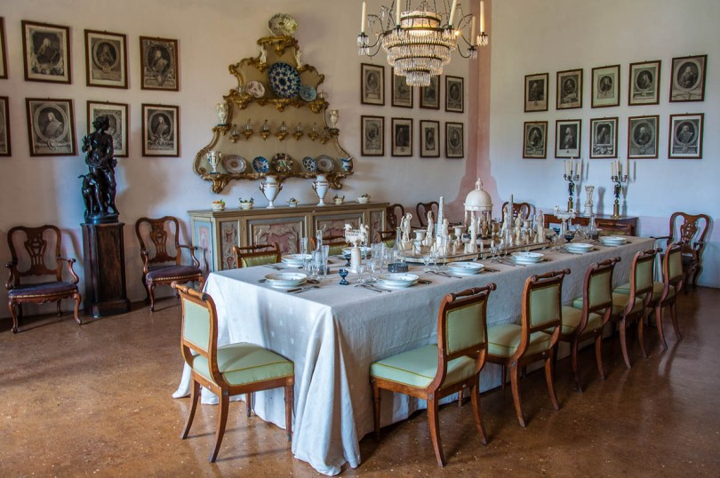 The dining room - Villa Pisani, Stra, Veneto, Italy - www.rossiwrites.com