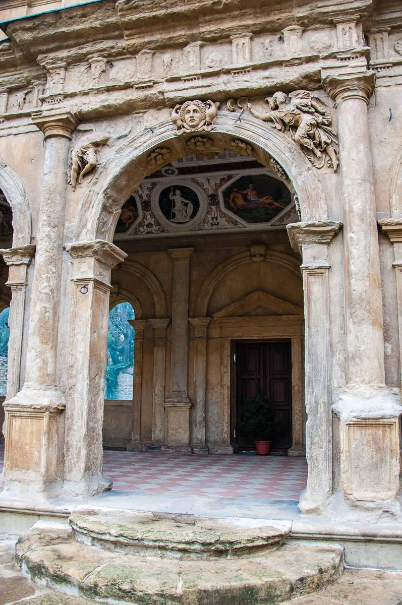 The entrance of the Cornaro Loggia - Padua, Veneto, Italy - www.rossiwrites.com