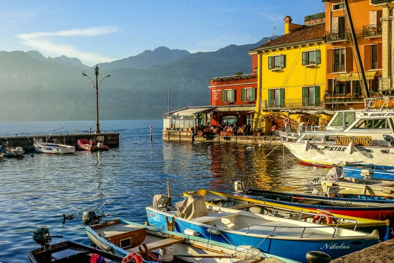 The harbour of Malcesine - Lake Garda, Italy - www.rossiwrites.com