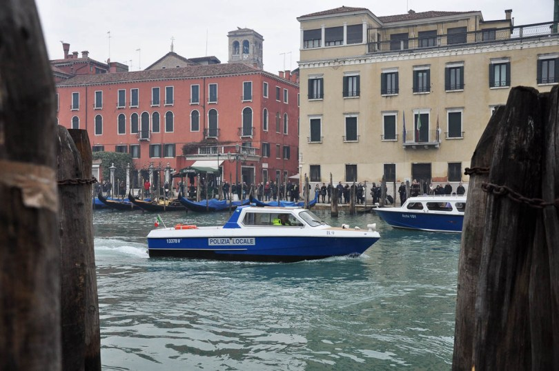 Police boat - Venice, Italy - www.rossiwrites.com