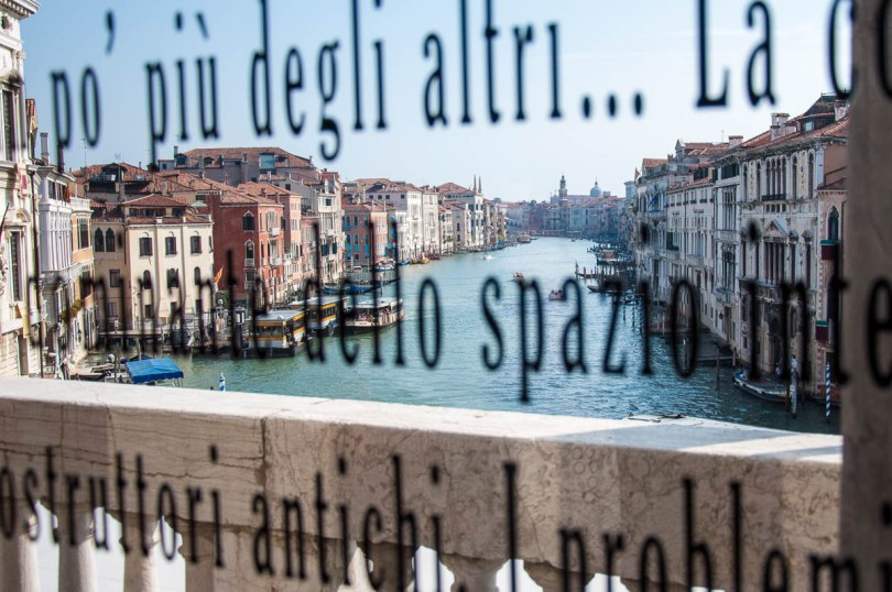 Rialto Bridge glimpsed from the Aula Barrato of Ca Foscari - Venice, Veneto, Italy - www.rossiwrites.com