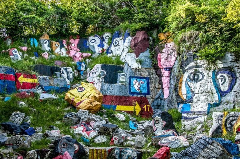Cava Dipinta - The Painted Caves - Rubbio, Veneto, Italy - rossiwrites.com