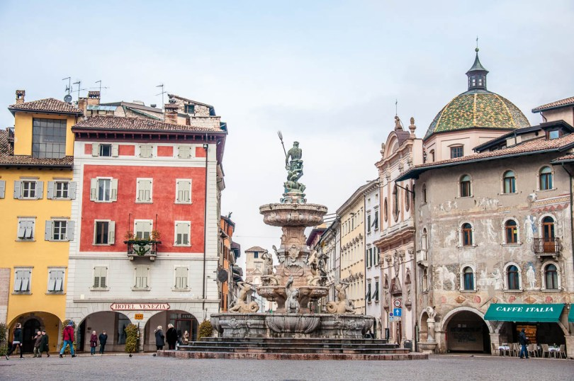 Piazza Duomo with Neptune's Fountain - Trento - Trentino, Italy - www.rossiwrites.com