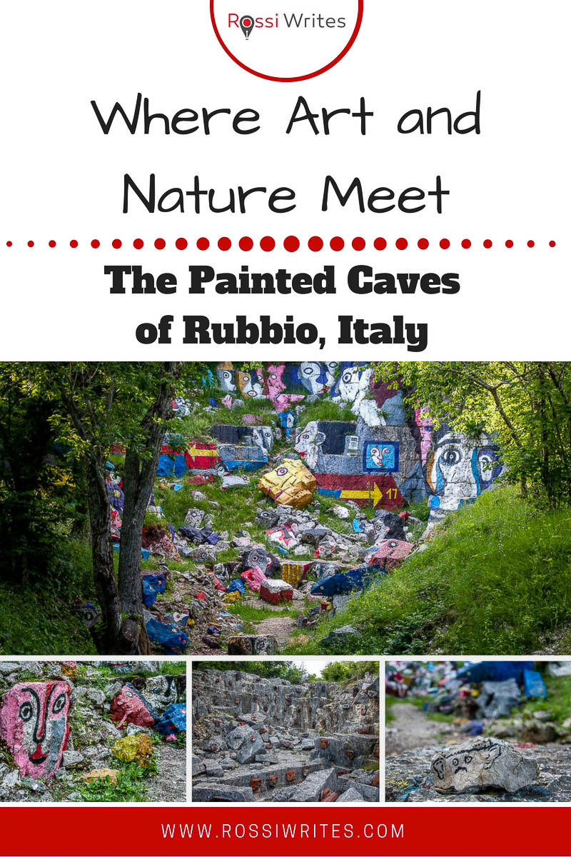 The Painted Caves are an open-air art installation in four former limestone quarries. You'll find them just outside Rubbio, a small Northern Italian town. It's a great hike and an innovative way to appreciate art and nature as one. Explore Italy beyond the tourist cliches. #travel #italy