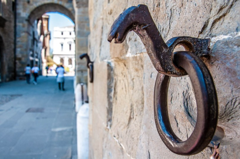 Horse tying ring- Bergamo Upper City, Lombardy, Italy - www.rossiwrites.com