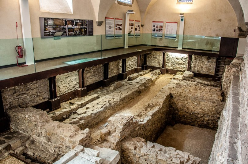 Archaeological excavations - Historical Museum of the Venetian Age - Bergamo Upper City, Lombardy, Italy - www.rossiwrites.com