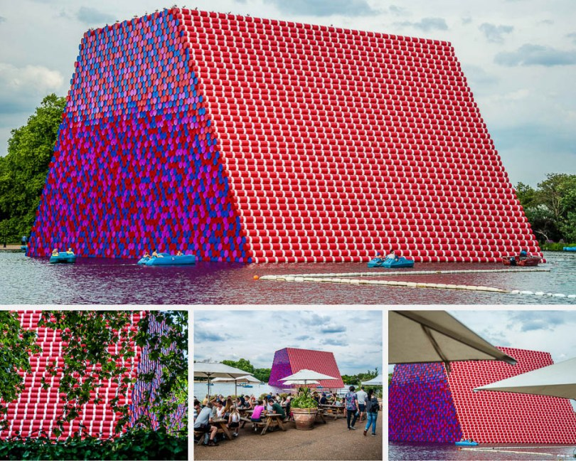 Christo and Jeanne-Claude's The London Mastaba in Hyde Park, London - The World's Bench - www.rossiwrites.com