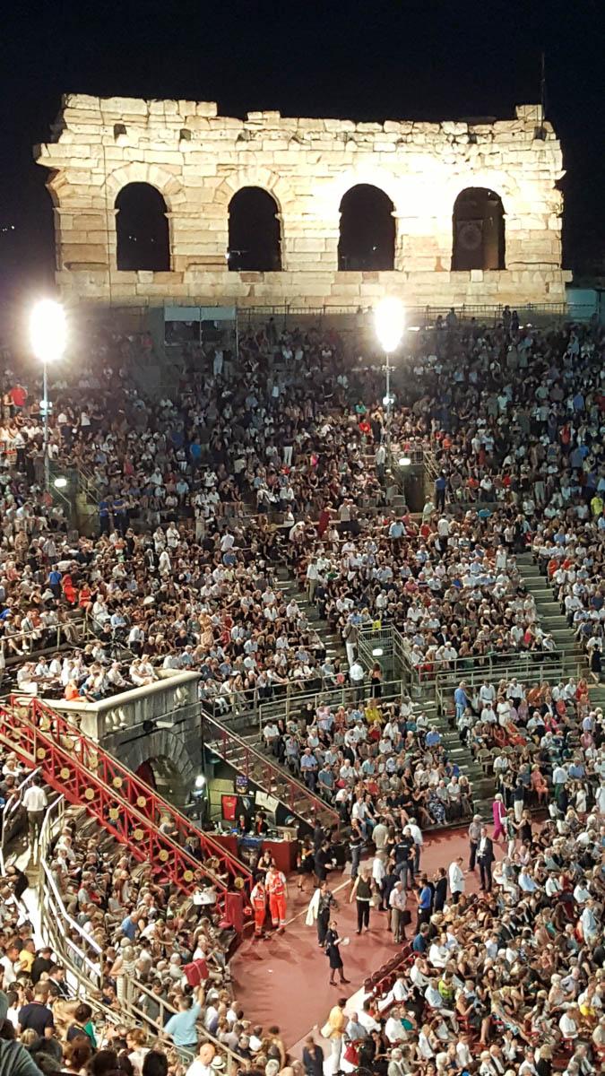 Night has fallen over Arena di Verona - Verona Opera Festival - Veneto, Italy - www.rossiwrites.com