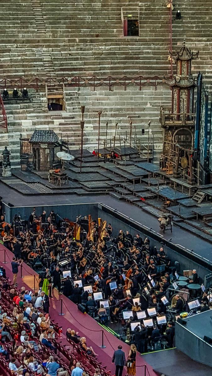 The orchestra - Arena di Verona- Verona Opera Festival - Veneto, Italy - www.rossiwrites.com