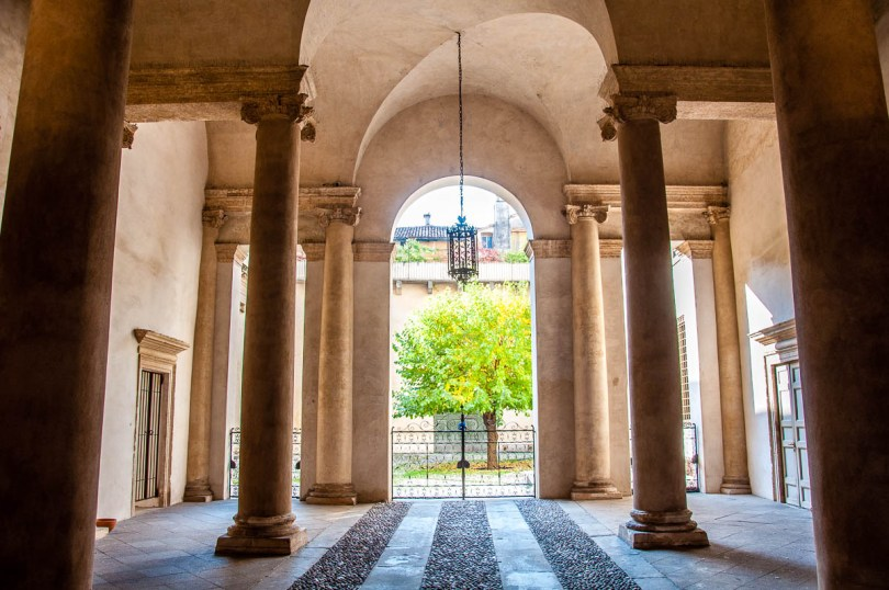 The entrance of the Palladio Museum - Vicenza, Italy - www.rossiwrites.com