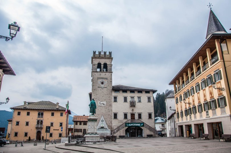 Historical Palace at Piazza Tiziano - Pieve di Cadore, Veneto, Italy - www.rossiwrites.com