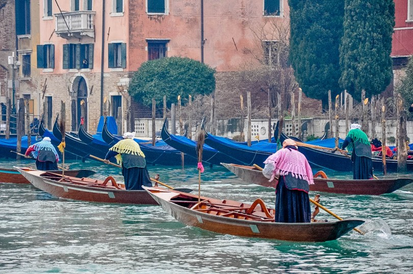 Befanas competing in the traditional Befana race - Venice, Italy - rossiwrites.com