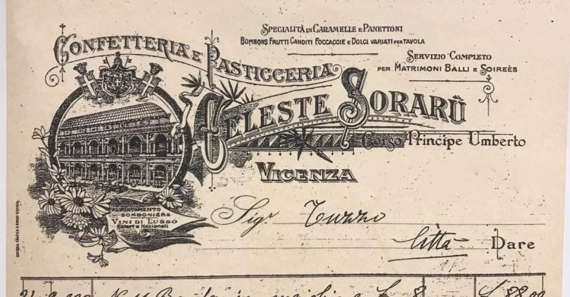 The logo of Celeste Soraru - Pasticceria Soraru - Vicenza, Veneto, Italy - www.rossiwrites.com