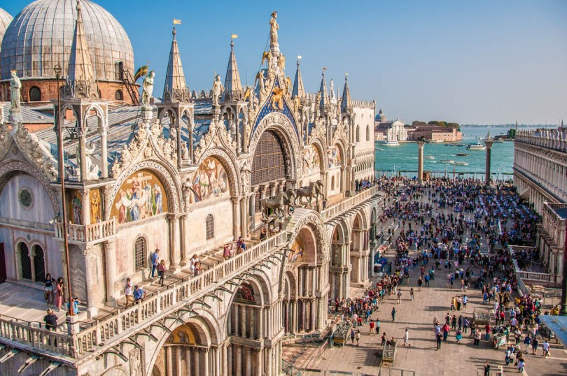 St. Mark's Basilica seen from St. Mark's Clocktower - Venice, Veneto, Italy - www.rossiwrites.com
