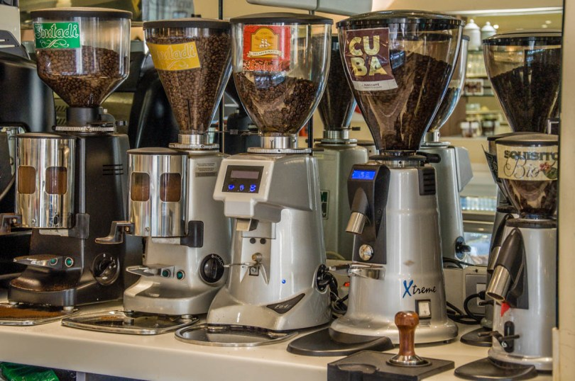 Grinder dosers - Caffe Bontadi - Rovereto, Italy - www.rossiwrites.com