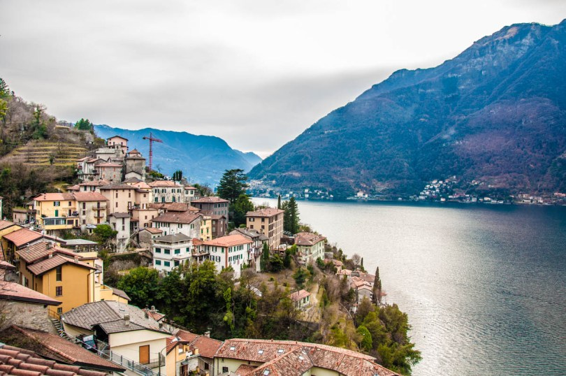 A view of Nesso on Lake Como, Lombardy, Italy - rossiwrites.com