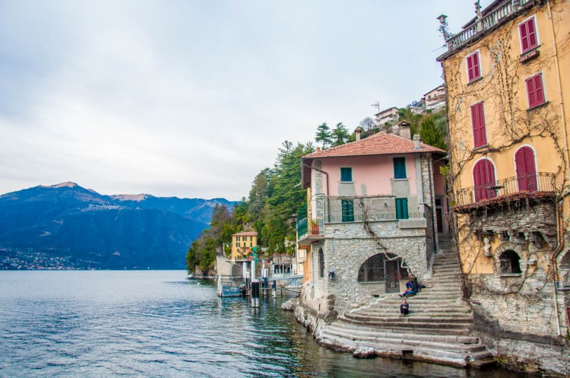 A view of Nesso on Lake Como, Lombardy, Italy - www.rossiwrites.com