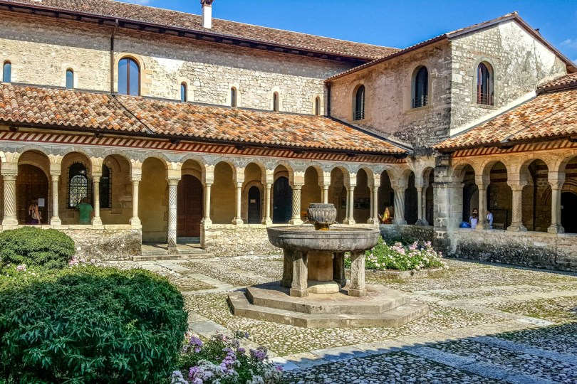 The cloister of the Abbey in Follina - Province of Treviso, Veneto, Italy - rossiwrites.com